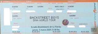Entradas Backstreet Boys Sector Galería 05/03 Mercado Pago