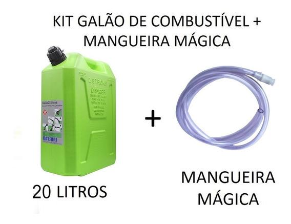 Galão De Combustível 20 Litros + Mangueira Mágica