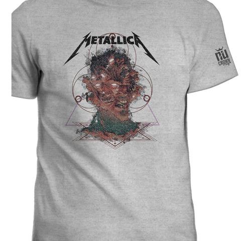 Camiseta Metallica Caras Rock Música Banda Hombre Igk
