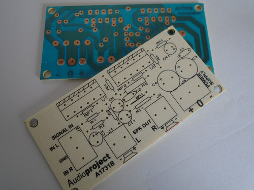 Circuito Impreso Amplificador 68+68 W C/ Lm3886 Audioproject