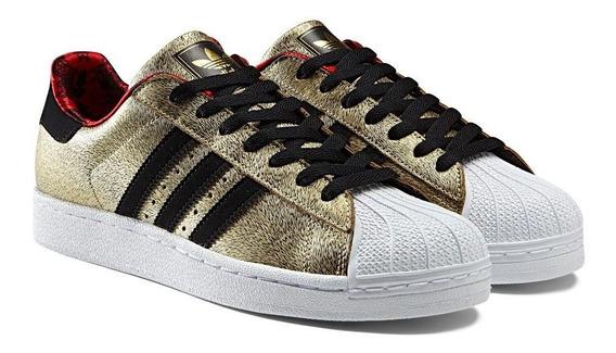 Tenis adidas Originals Superstar Ll Gold/black Nasotafi2