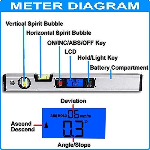 Inclinometro Risepro Digital Angle Finder Gauge