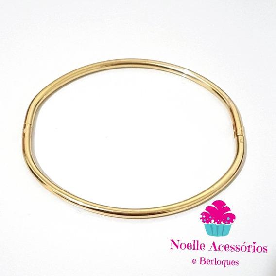 Bracelete Dourado Para Berloques - 18 Cm