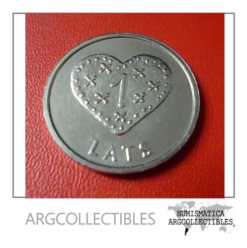 Letonia Moneda Corazón De Pan De Jengibre 1 Lats 2011 Unc