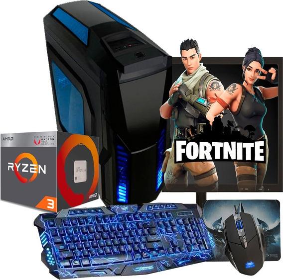 Pc Gamer Ryzen 3 2200g / Vega 8 / 8gb / 500gb + Kit Gamer