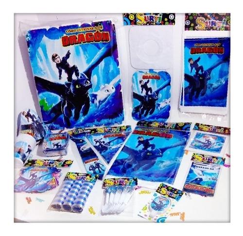 Kit Decoración Piñata Fiesta Infantil  Chimuelo Entr Dragon