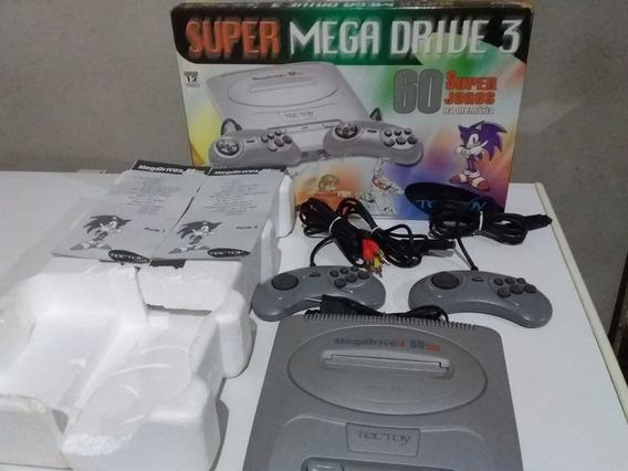 Super Mega Drive 3 Collection Na Caixa C/ 60 Jgs Na Memoria