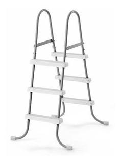 Escalera De 36in (91cm) Plata Para Alberca Intex