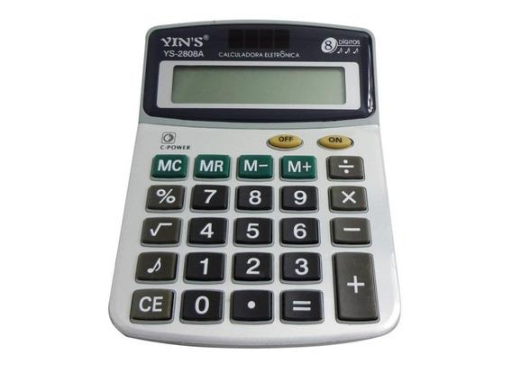 Calculadora Eletrônica Ys-2808a 8 Dígitos - Yin´s