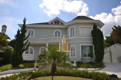 Casa Com 4 Suítes Sendo Escritório Reversível Para A 5º Suíte, 700m² Por R$ 5.500.000,00- Tamboré 02 - Santana De Parnaíba/sp - Ca2569