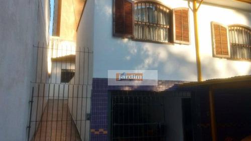 Imagem 1 de 3 de Imóvel Com 2 Casas, Sendo 3 Dormitórios No Total, À Venda, 200 M²  - Jardim - Santo André/sp - Ca1202