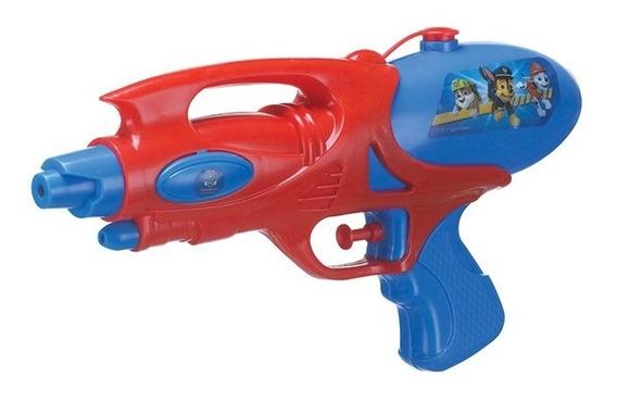 Arminha Pistola Lança Água 26cm Patrulha Canina Azul 12x