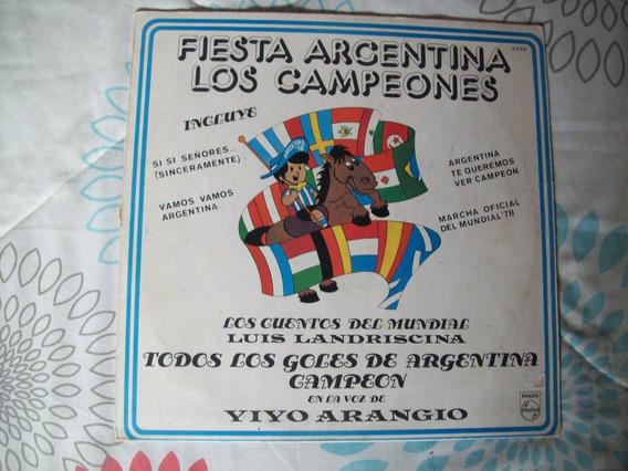 Disco De Vinilo *fiesta Argentina*los Campeones* Mundial 78