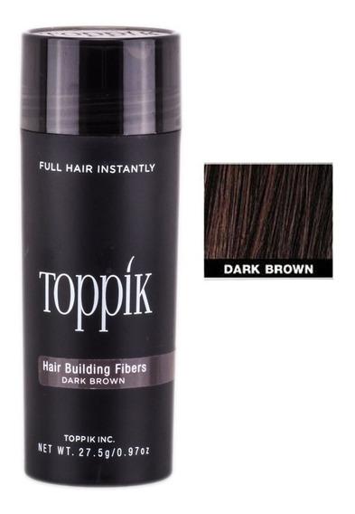 Toppik Hair 27,5 Castanho Escuro Fibra Queratina P. Entrega