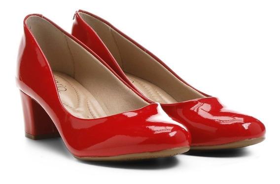 Sapato Scarpin Feminino Beira Rio Verniz Vermelho 4777309