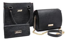 Bolsa Feminina Kit Com 3 Bolsas Promoção Queima De Estoque