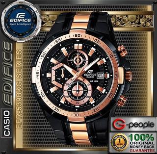 Reloj Casio Edifice Cronógrafo Efr-539bkg-1av - 100% Nuevo
