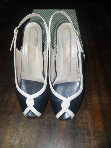 Zapato Dama  De Cuero Abierto En La Punta Nº 37 California