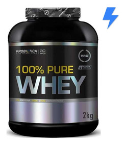 100% Pure Whey Protein 2kg - Probiótica - Val. 2021 - C/ Nf