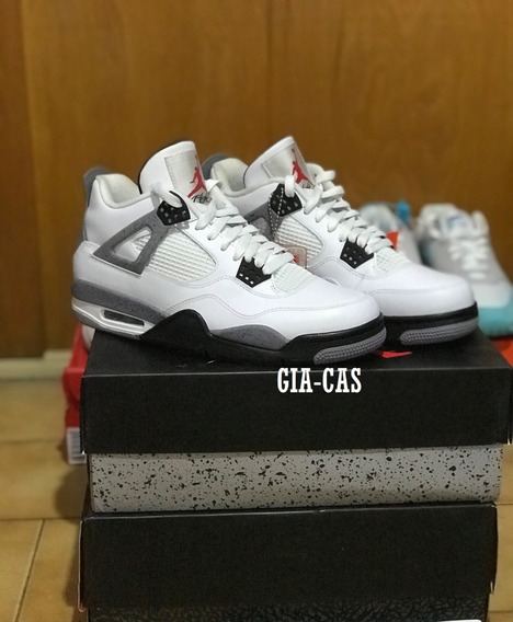 Zapatillas Air Jordan 4 Retro - White Cement