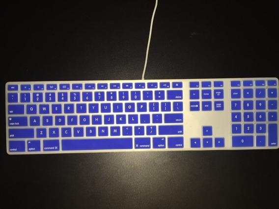 Capa Silicone Teclado iMac - Mac Mini - Azul - A1243