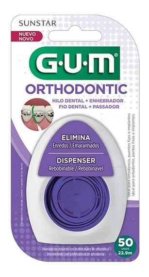 Gum Orthodontic Floss - Hilo Dental Para Ortodoncia Con Enhebrador Y Dispensador 50 Usos