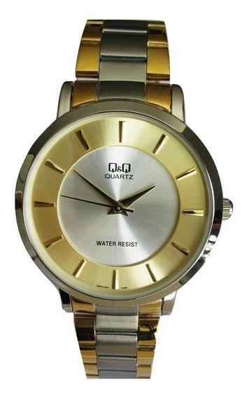 Relógio Q & Q Miyota Masculino Slin, Aço Folhado Q944j401y