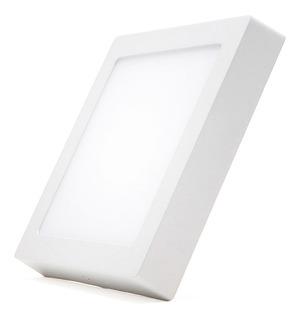 Panel Plafon Led 18w Cuadrado Exterior Calido Frio Neutro #