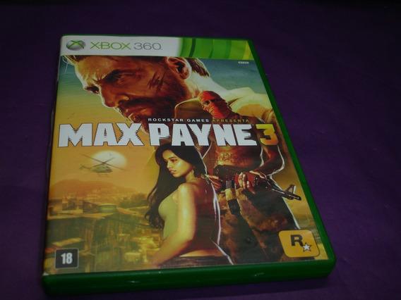Jogo Max Payne 3 Xbox 360 Original M.fisica