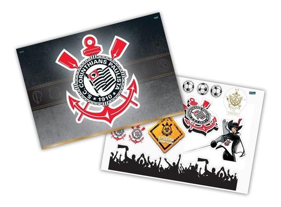 Kit Poster Decorativo Corinthians Festa Aniversario +14pçs