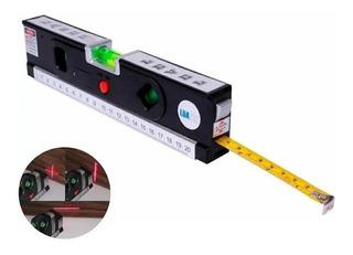 Nível Laser 3 Linhas Cruz Trena Régua Nivelador Profissional