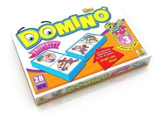 Juego De Mesa Domino De Animales Fichas Implas Art.8 Edu