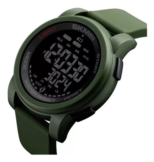 Skmei Reloj Digital Impermeable 5atm Cronómetro Podometro