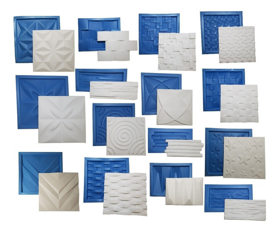 15 Formas Gesso Placa 3d Borracha E Plástico Promoção