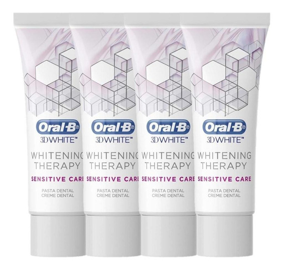 Kit 4 Oral-b 3d Whitening Therapy Sensitive Care 90g