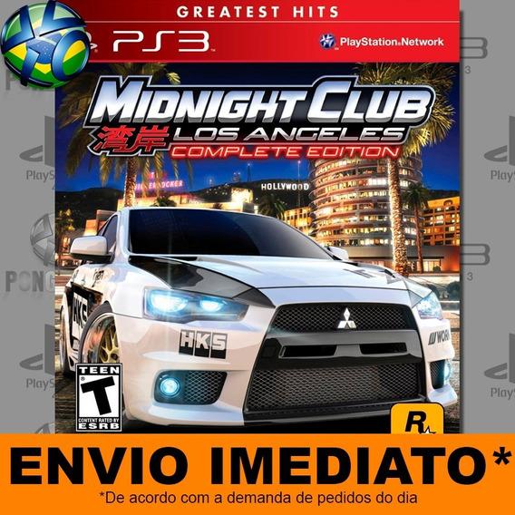 Jogo Ps3 Midnight Club Los Angeles Complete Edition Psn Play
