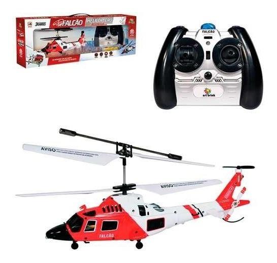 Mini Helicoptero Controle Remoto 3 Canais Com Gyro Falcão