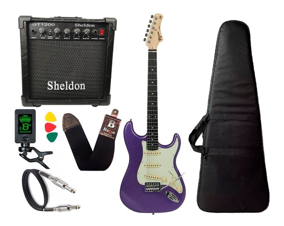 Guitarra Tagima Tg500 Roxo Metalico Purple Cubo Sheldon