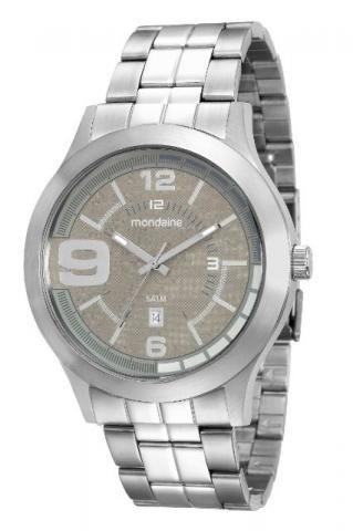 Relógio Mondaine Prata Visor Preto 94963 G0mvna2