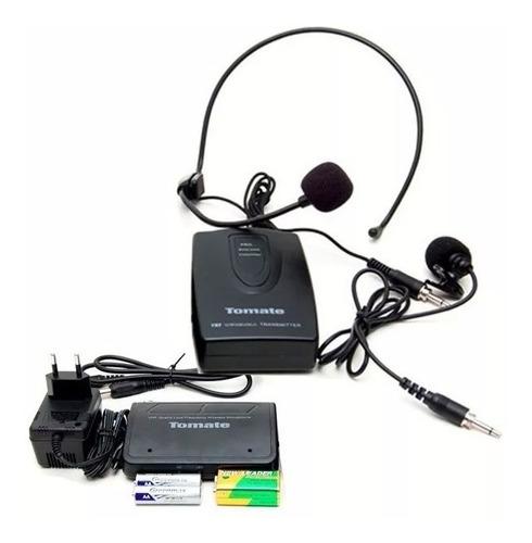 Kit de Microfone Sem Fio Auricular De Cabeça Headset Cor