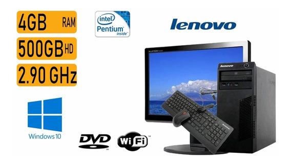Computador Lenovo Pentium 2.9ghz 4gb 500gb Tela 19 Wifi Nf