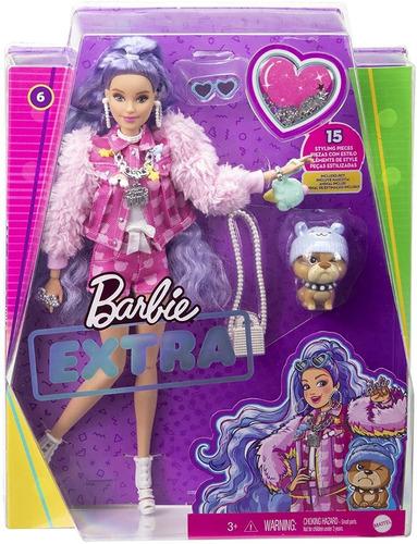 Imagem 1 de 9 de  Barbie Extra 2021 Cabelo Lilás 6 Lançamento Articulada Bear