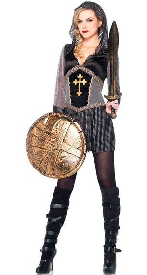 Roupa De Princesa Guerreira Vestido Com Capuz Joana Darc