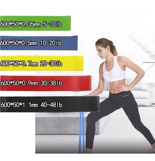 Kit Cinco (5) Bandas Gomas Para Fisioterapia-yoga-rehabilita
