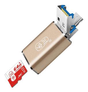 Kawau Metal Micro Usb Otg Usb 3.0 Tf Flash Lector De Tarjeta