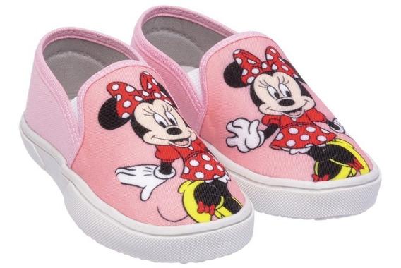 Tenis Infantil Personagens Minnie Calçados Kids Sapatinho