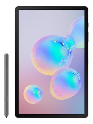 """Tablet Samsung Galaxy Tab S6 SM-T865 10.5"""" 128GB mountain grey com memória RAM 6GB  e conexão de telefone celular"""