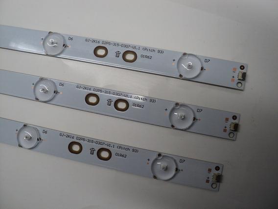 Kit C/ 3 Barras De Led Philips 32phg5102 Original Produto