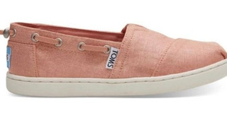 **toms Zapatos Pink Shimmer Canvas Mod Youth Bimini Num 21