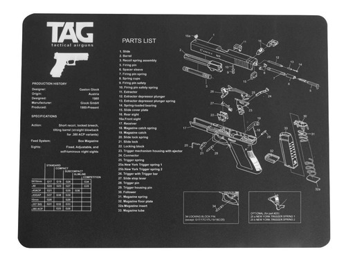 Imagem 1 de 4 de Gunmat Tapete Para Limpeza De Armas Gunpad Ntk
